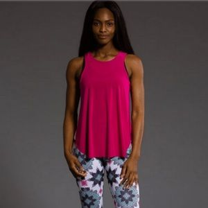 "Onzie ""Molly"" Fuscia Pink Workout Top Like New"
